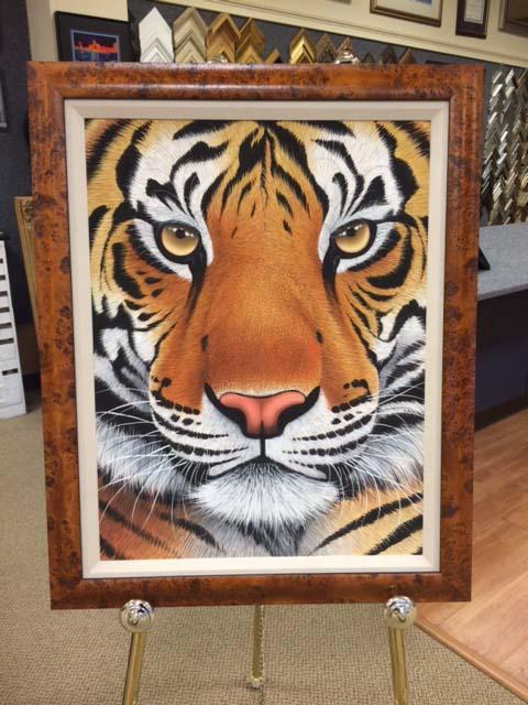 Framed Tiger Print