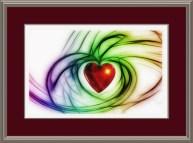 mat board around a heart