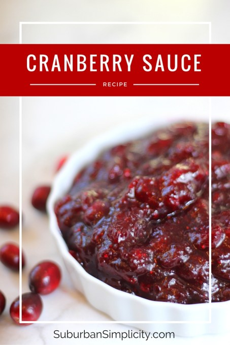 The easiest and tastiest Cranberry Sauce Recipe!  The perfect compliment to your Thanksgiving Dinner.