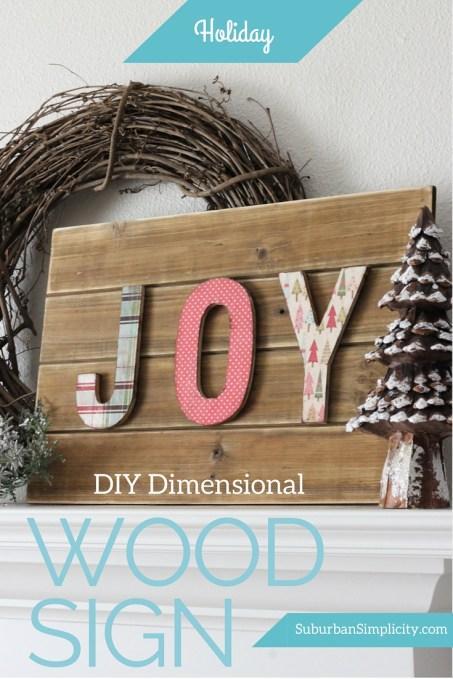 DIY Dimensional Holiday Wood Sign