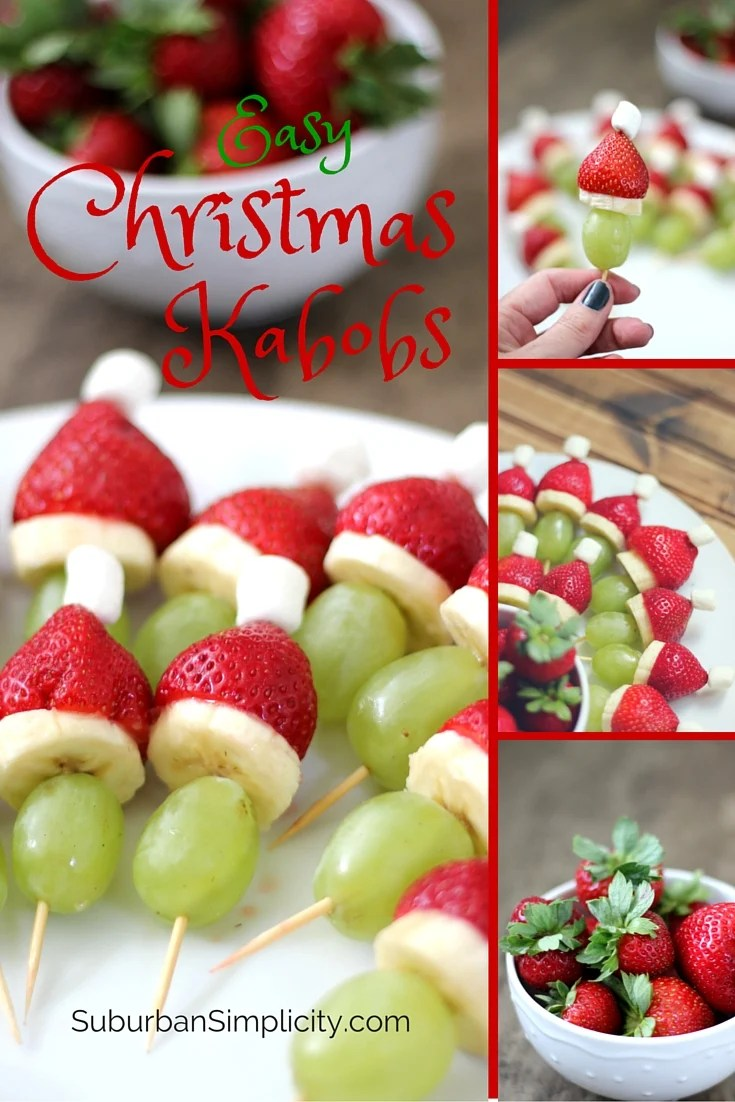 Image with pictures of Christmas Kabobs.