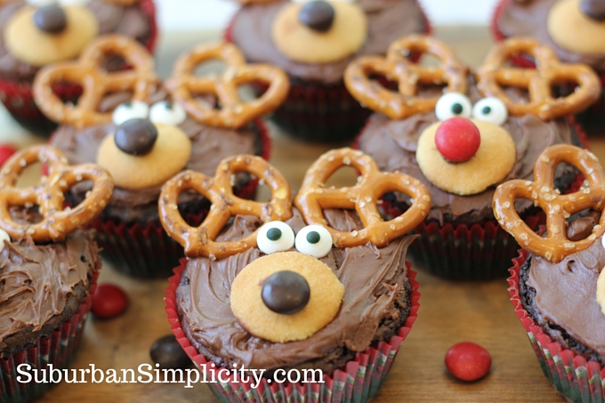Adorable reindeer brownie recipe christmas treat idea adorable reindeer brownies with red and brown noses sitting on a countertop forumfinder Choice Image