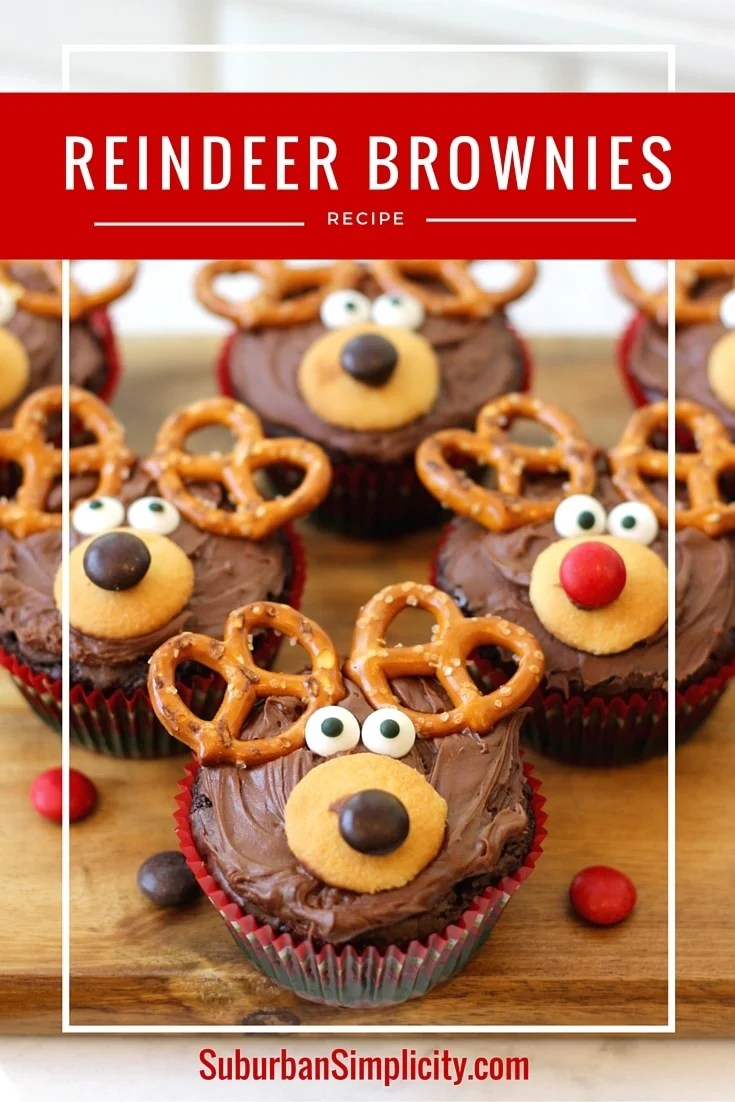 Adorable reindeer brownie recipe christmas treat idea reindeer brownie recipe forumfinder Choice Image