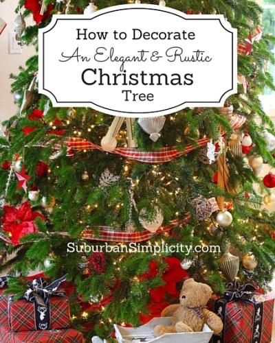 How to Decorate an Elegant and Rustic Christmas Tree-4