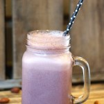 Cherry Almond Breakfast Smoothie. Clean and healthy recipe