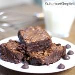 Chocolatey Dark Chocolate Fudge Brownies