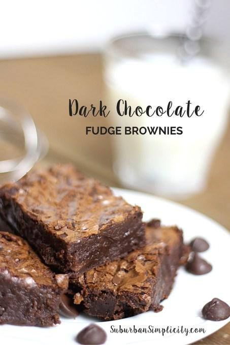 Dark Chocolate Fudge Brownies - Recipe