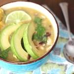 Easy Chicken Enchilada Verde Soup