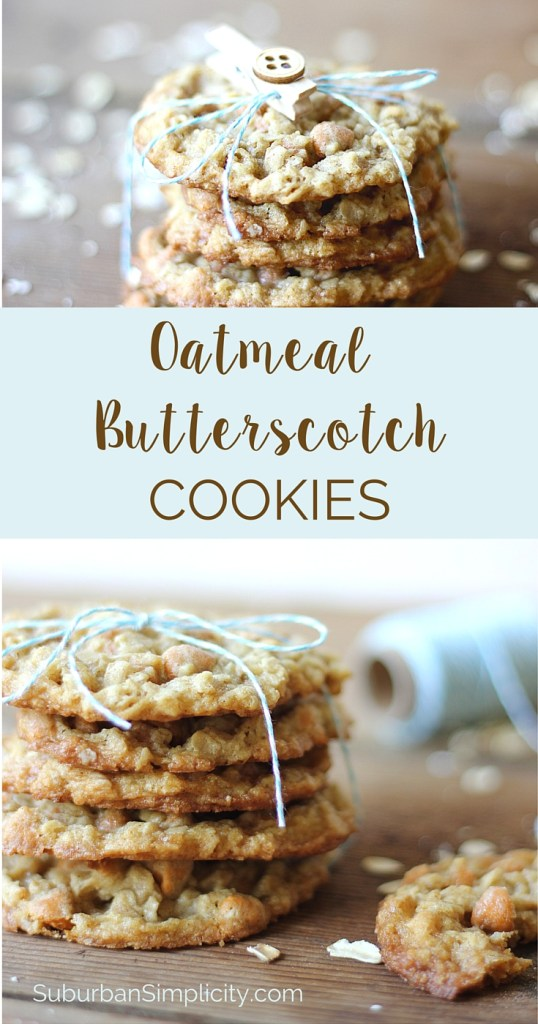 These Amazing Oatmeal Butterscotch cookies bake up soft and chewy and have wonderful flavor and texture thanks to the oat, butterscotch and just a hint of cinnamon. They freeze well so you won't be tempted to eat them all at once!