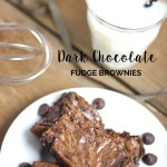 Craving a little Chocolate? This Dark Chocolate Fudge Brownie recipe is decadently delicious - rich and dense. Make this brownie from scratch and you'll never buy a boxed mix again!
