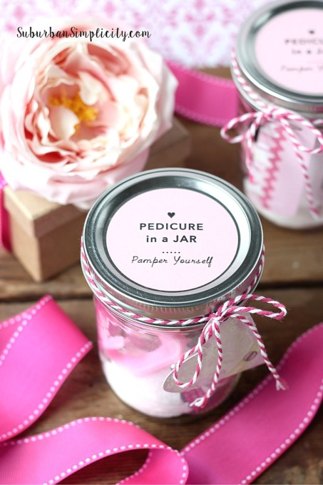 Easy Pedicure in a Jar