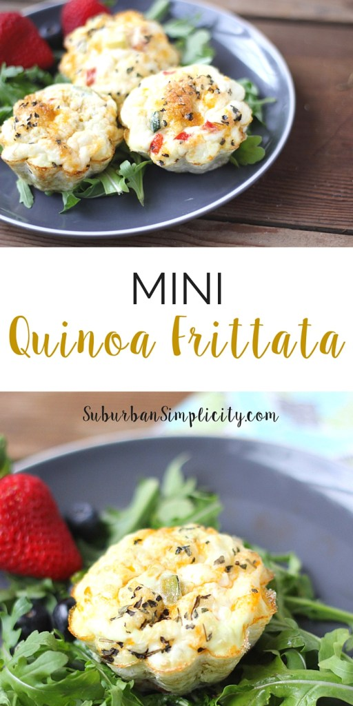 Looking for a healthy breakfast or snack idea? Try this Mini Quinoa Frittata Recipe. It's easy, nutritious and satisfying. Plus, you can add whatever vegetables you like!