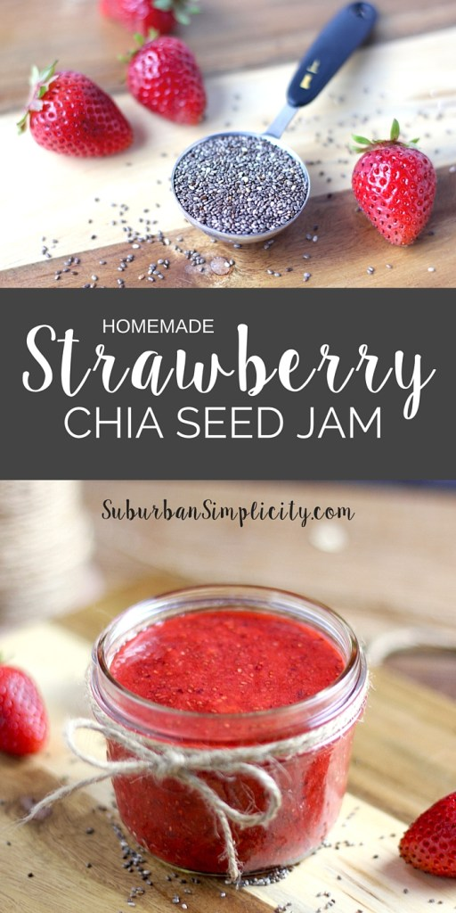 Learn how to make Strawberry Chia Seed Jam.  It's easy, delicious and nutritious and only requires 4 ingredients!  It's gluten free and contains no refined sugars. Paleo Friendly.