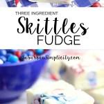 Delicious Skittles Fudge