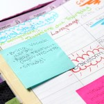 Back to School Organization - Post-It Notes in binder