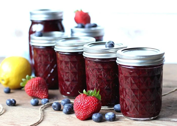 Homemade mixed berry jam canning basics Jam without boiling easy made flavorful