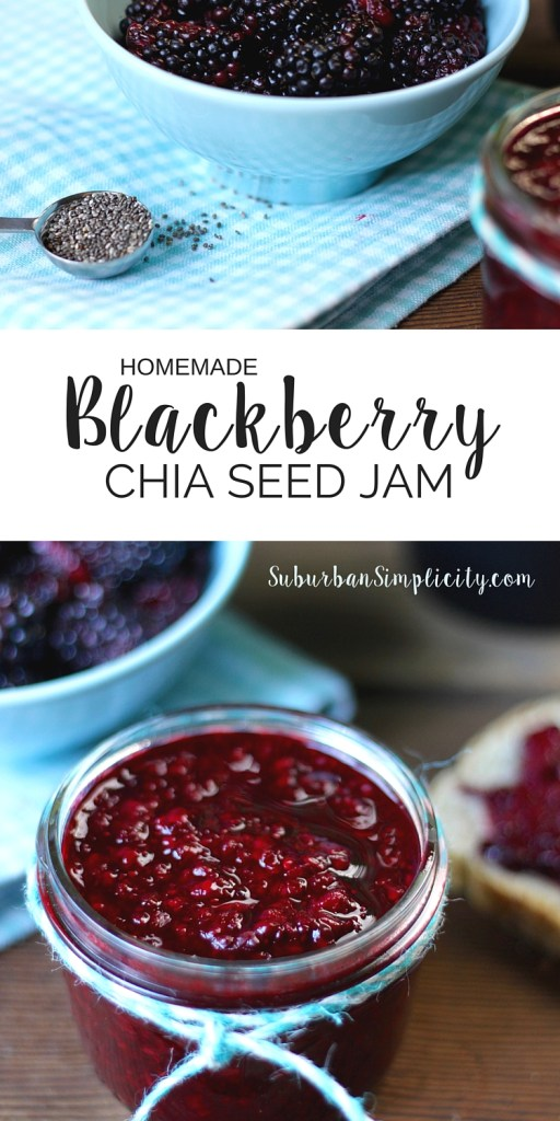 In less than 20 minutes, you can make this delicious Homemade Blackberry Chia Seed Jam! This jam recipe is great on everything from toast to pancakes. GF and no refined sugar.