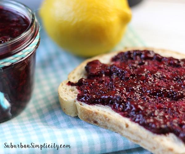 Homemade Blackberry Chia Seed Jam on Toast