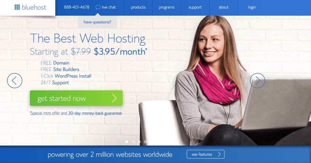 Start a Blog - Bluehost.com