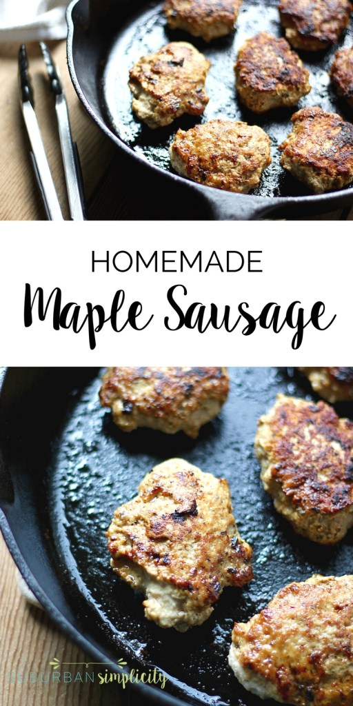 This easy Maple Sausage recipe is a perfect healthy meal idea for your family. It's preservative free, freezer-friendly and tastes amazing! It's also gluten-free.