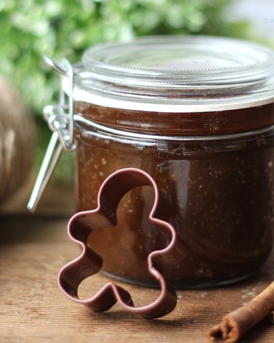 This Gingerbread Brown Sugar Scrub is such a great idea! Easy, economical, and makes the best homemade gifts!