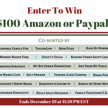 $100 Amazon or PayPal Giveaway – 12/19/16