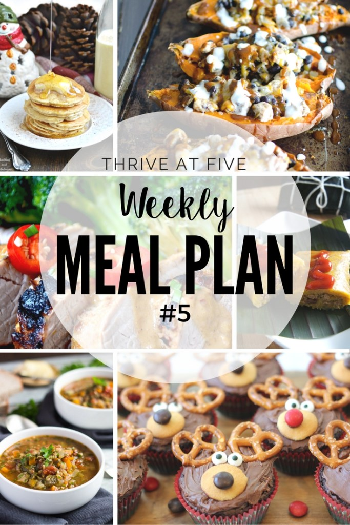 Thrive at Five Weekly Meal Plan #5 is your shortcut to fresh and delicious recipe ideas your family will love!