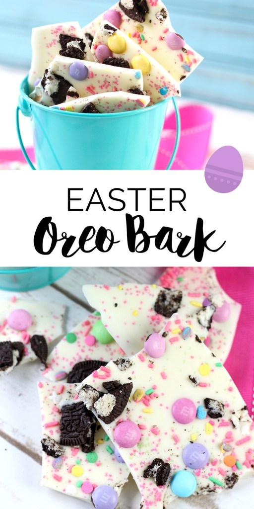 Make this easy and delicious Easter Oreo Bark Recipe in less than 5 minutes. It's a simple and irresistible dessert idea that's perfect for Easter brunch!