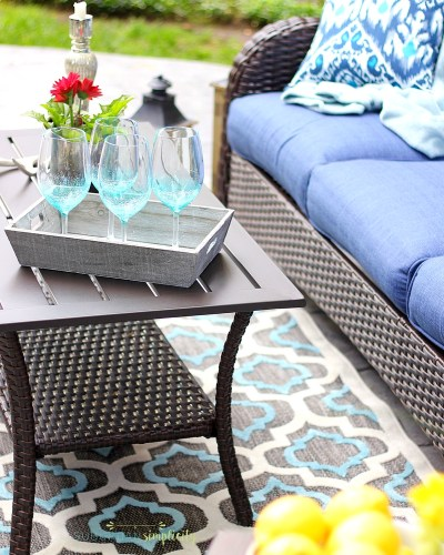 Backyard Patio Makeover in One Afternoon