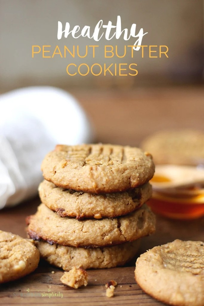 Gluten Free Peanut Butter Cookies are healthy cookies with no flour and no refined sugar that tastes out of this world!  A clean, low carb recipe!