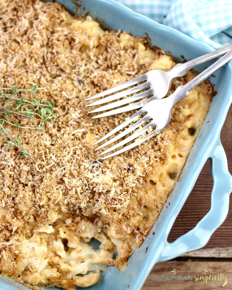 Roasted cauliflower mac and cheese is a healthy food recipe the whole family will enjoy!