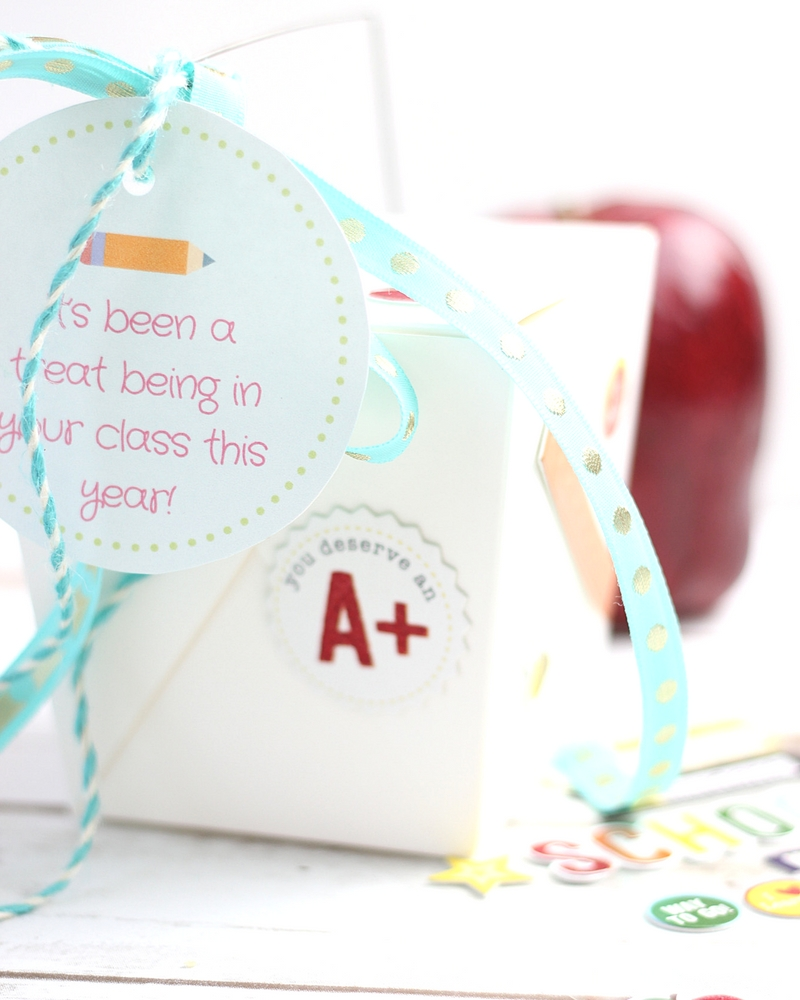 Appreciate teachers with this Saltine Toffee Teacher Appreciation Gift Idea! It's easy to make, but leaves a delicious impression. FREE printable gift tags!