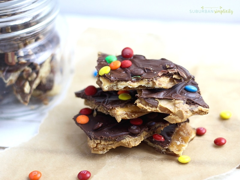 you have to try peanut butter saltine toffee aka christmas crack