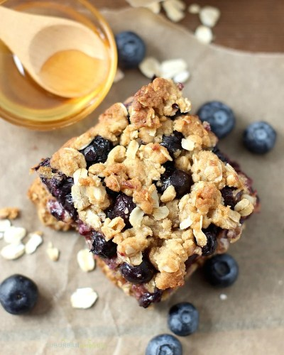 Easy Blueberry Oatmeal Bars