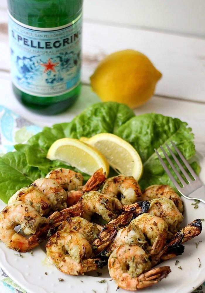 Grilled Pesto Shrimp Skewers make a great summer dish!