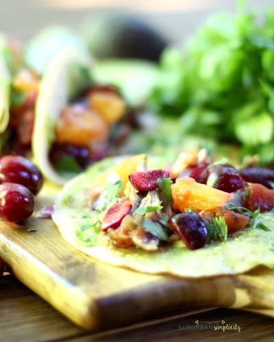 Duck Tacos with Cherry Orange Salsa is a flavorful summer recipe that'll wow your tastebuds. Sweet cherries, tart citrus, avocado, onions and chiles make the dish come alive!