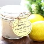 DIY Lemon Sugar Scrub + Free Printable Tags