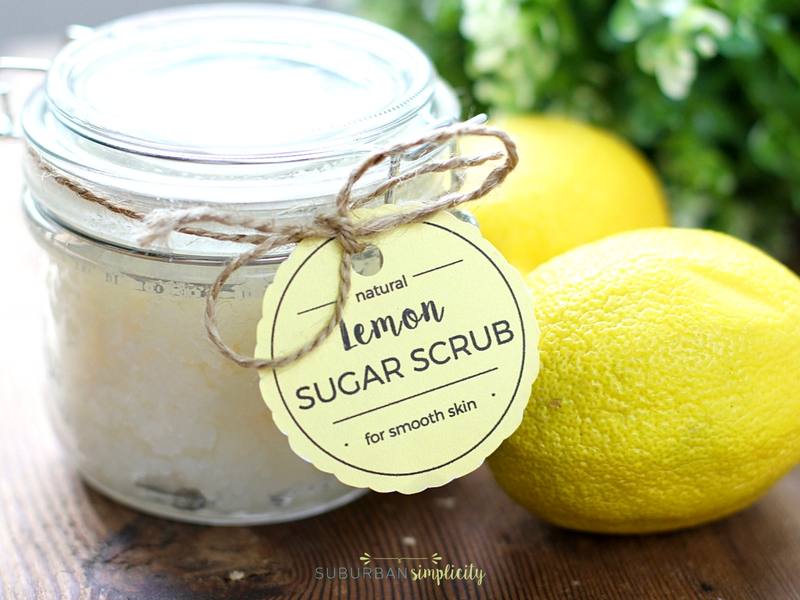 DIY Lemon Sugar Scrub + Free Printable Tags