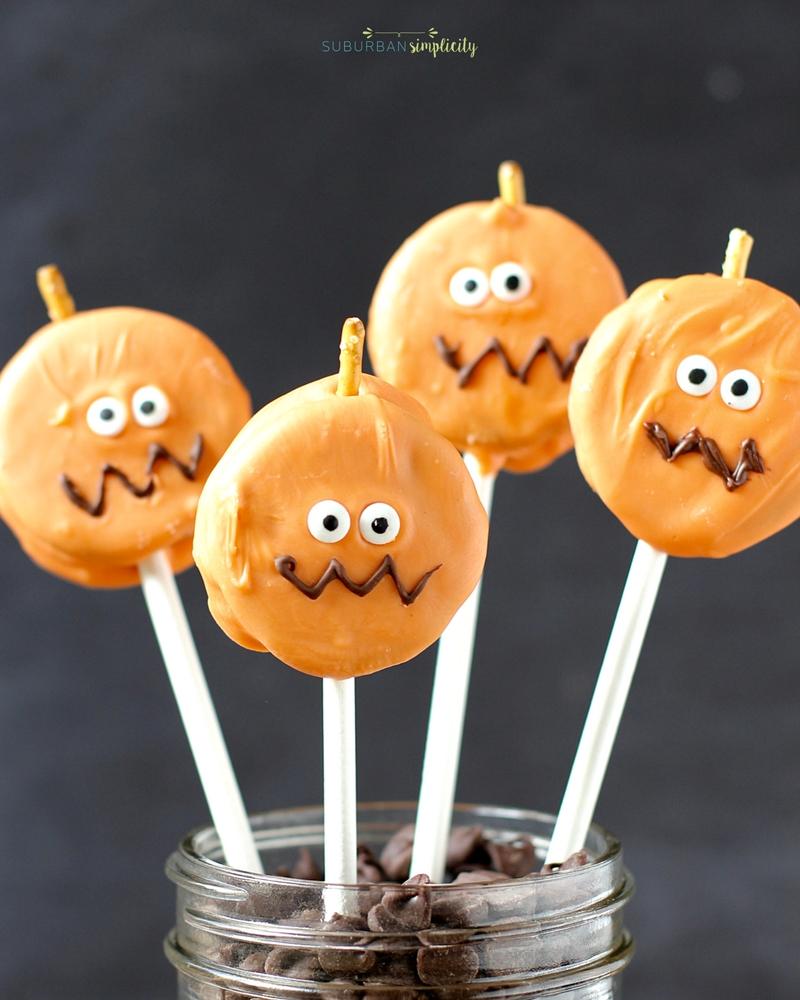 easy oreo pumpkin pops | easy halloween treat idea