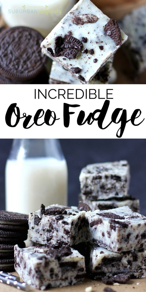 This amazing and easy Oreo Fudge is so creamy and dreamy, you'll absolutely love it! It's a simple Oreo cookie dessert idea no one can resist! #oreorecipe