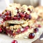 Delicious and easy Cranberry Oatmeal Bars. The perfect breakfast or anytime snack. Low in refined sugar.