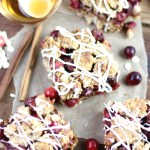 Cranberry Oatmeal Bars and Holiday Decorating with Cranberries