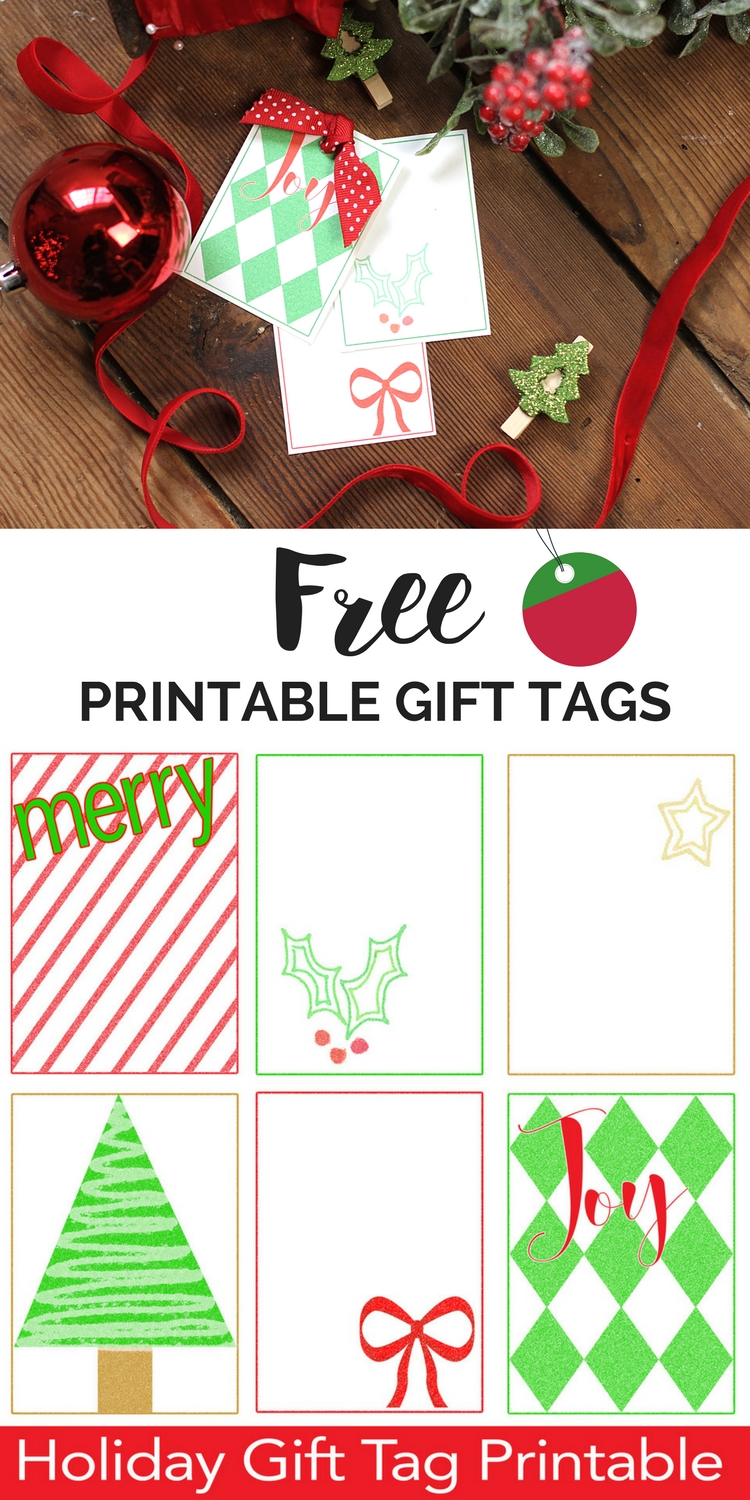 free printable christmas gift tags - Printable Christmas Name Tags