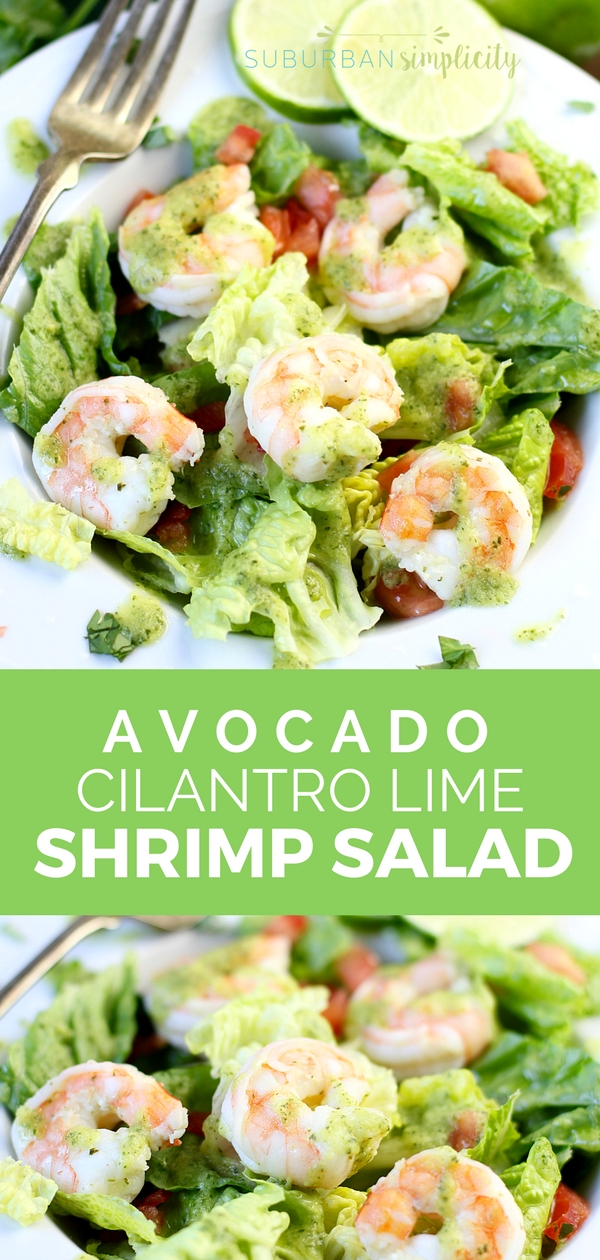 You have to try this Avocado Cilantro Lime Shrimp Salad! It's healthy, fresh and super flavorful - the perfect low carb recipe any night of the week.