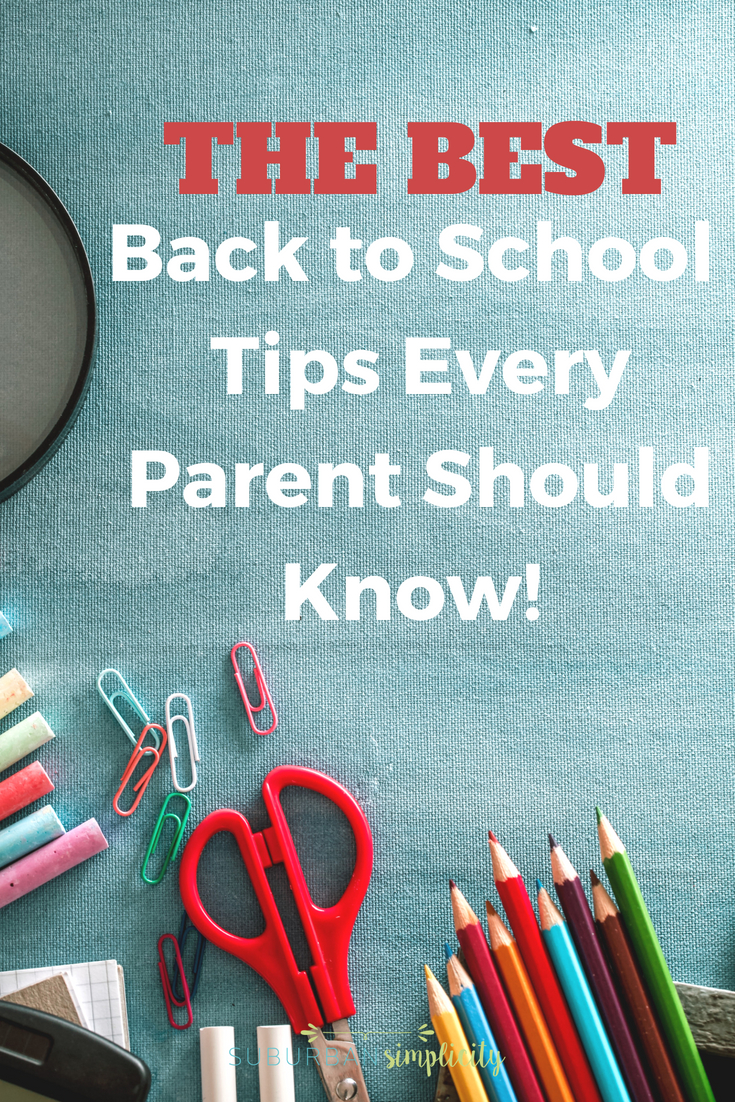 These back to school tips will help you and your kids start the year right!  Parents love these clever ideas because they help keep things organized and efficient for the school year. #kids #parenting #school #backtoschool