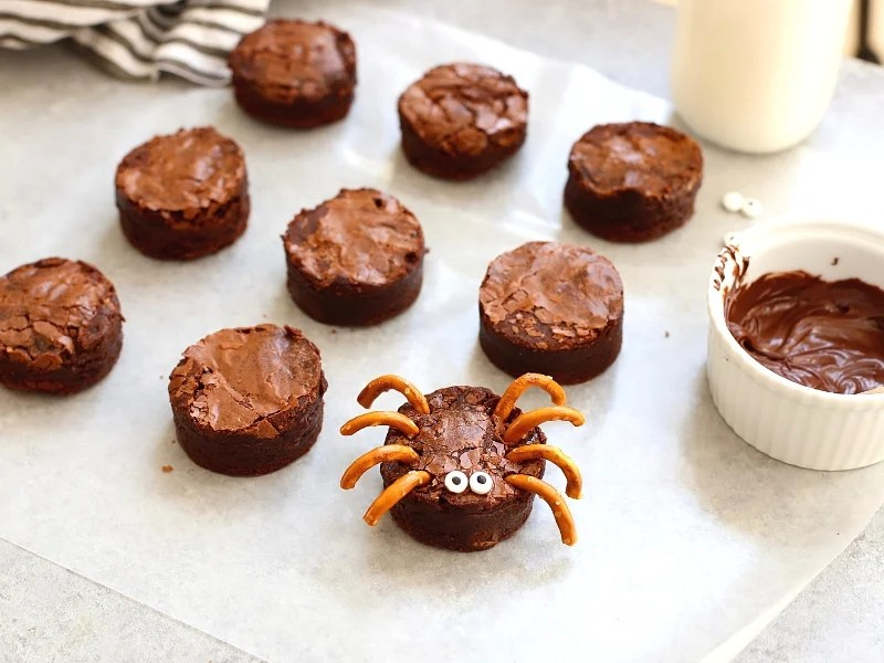brownie spiders for halloween