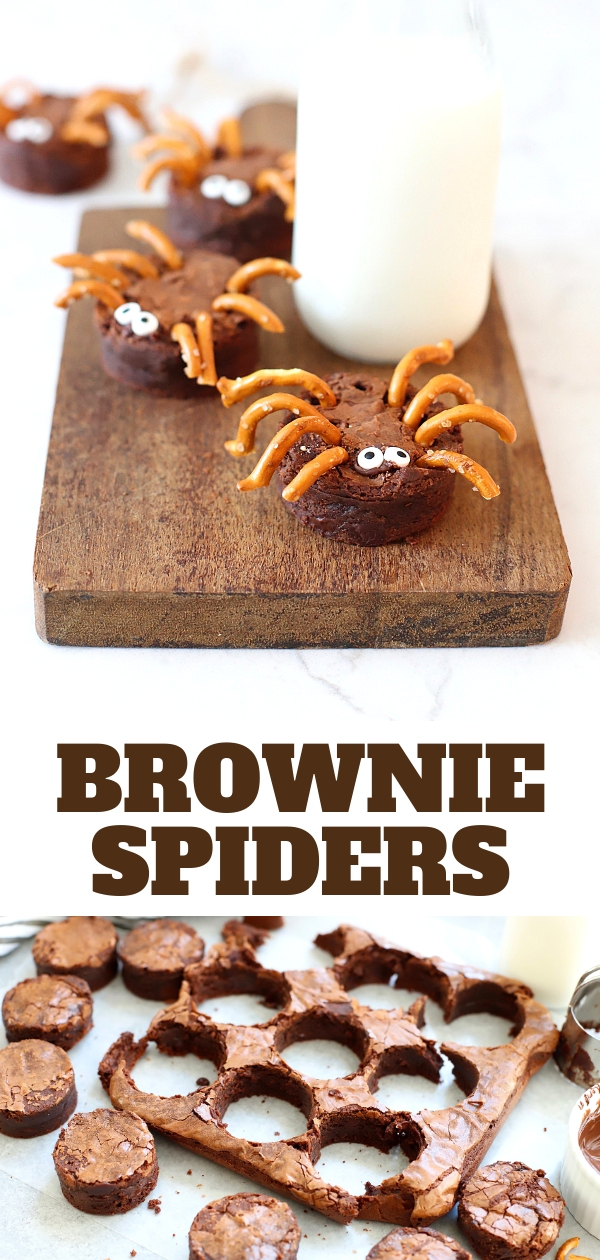 scare up a tasty good time with these chocolatey brownie spiders an easy halloween treat