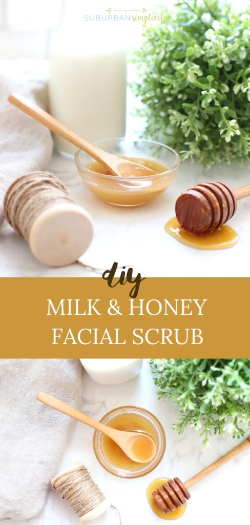 Want glowing skin? This Milk and Honey Sugar Scrub is an easy DIY beauty idea for just that! An simple and inexpensive natural beauty product you can make at home.