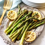 Roasted Asparagus with Lemon for dinner.