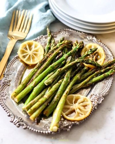Roasted Asparagus with Lemon for dinner.